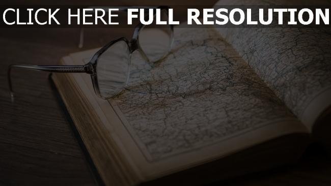 hd hintergrundbilder brille buch atlas karten retro