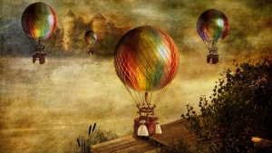 luftballons pier schloss vintage-stil
