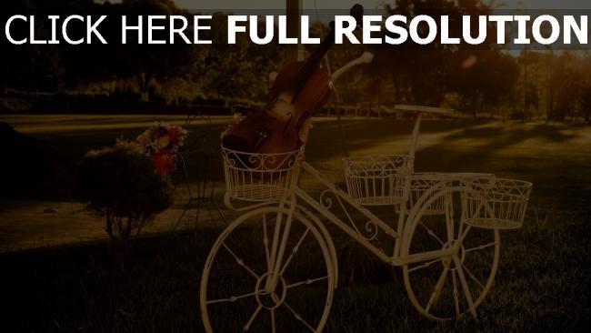 hd hintergrundbilder skulptur fahrrad violine park retro
