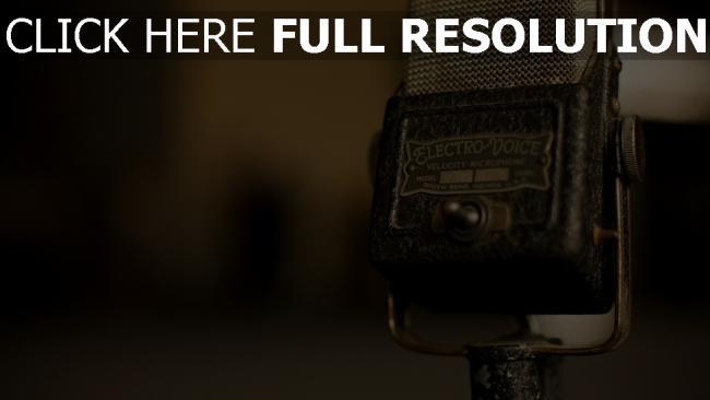 hd hintergrundbilder mikrofon retro alt