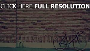 ziegel wand fahrrad retro