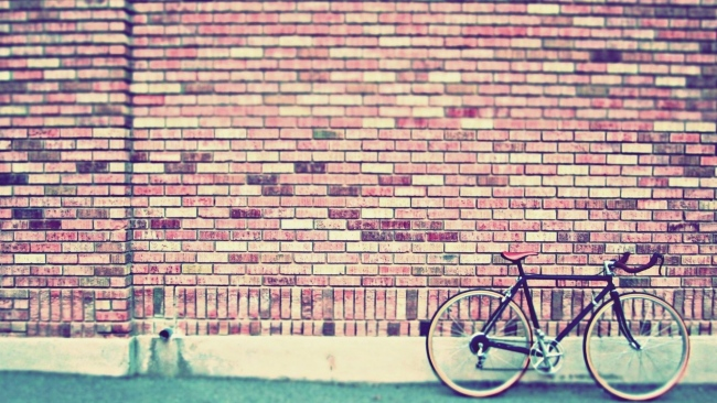 hd hintergrundbilder ziegel wand fahrrad retro