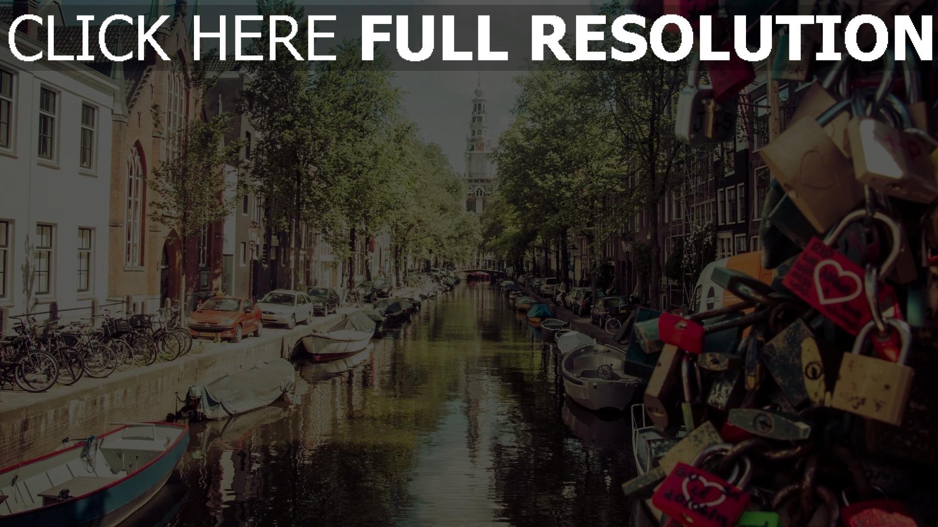 Hd Hintergrundbilder Amsterdam Sommer Hausbooten Schl 246 Sser