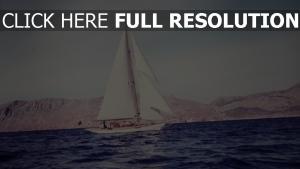 schiff segel meer strand retro foto