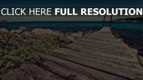 pier vorstand meer strand steine horizont