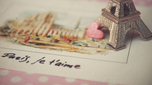 postkarte zeichnung souvenir herz