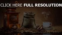kaffee kaffeebohnen tasse tisch geschmack stimmung