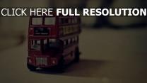 englisch-bus modell miniatur retro