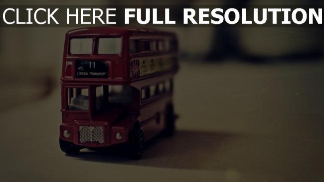 hd hintergrundbilder englisch-bus modell miniatur retro