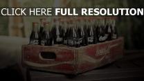 coca-cola schachteln flaschen retro
