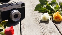 smena kamera rosa weiß rot
