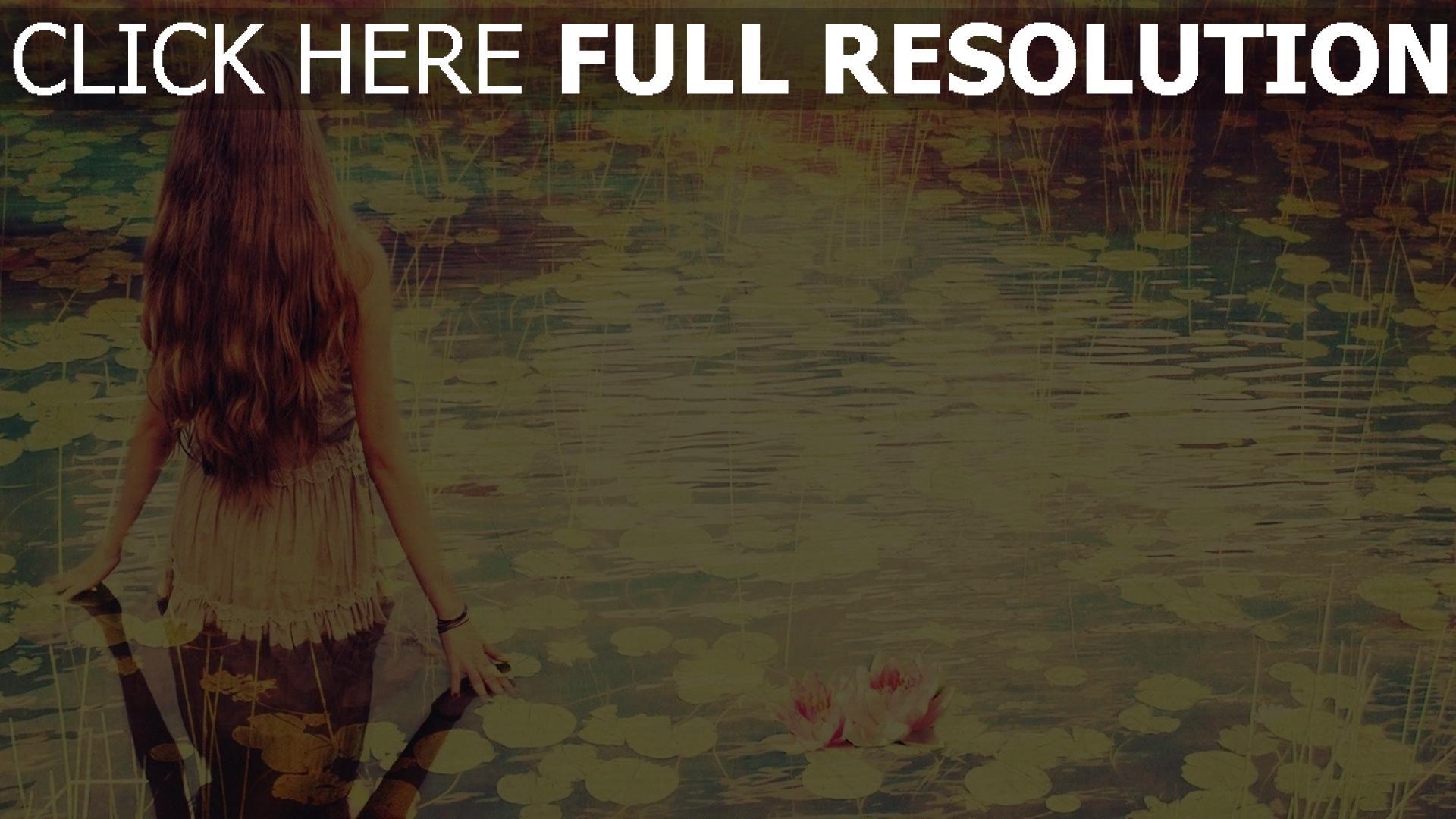 Herunterladen 1920x1080 Full Hd Hintergrundbilder Mädchen Wasser