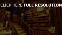 haus bibliothek bücher leiter licht retro