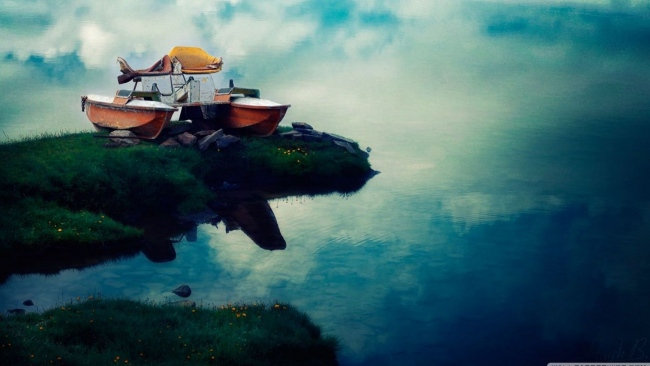 hd hintergrundbilder boote strand fluss wolken reflexion