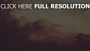 wolken himmel rauch altes foto