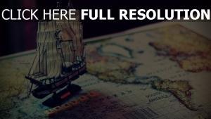 schiff landkarte reise öffnung