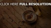 kompass richtung papier text retro