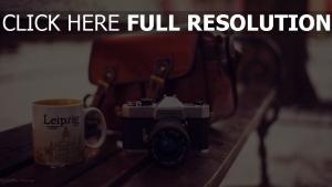 kamera tasse tasche bank retro