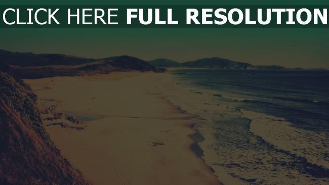 hd hintergrundbilder brandung meer küste sand strand vintage-fotografien