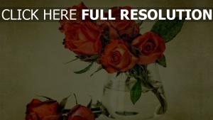 rosen strauß vase schön vintage-stil