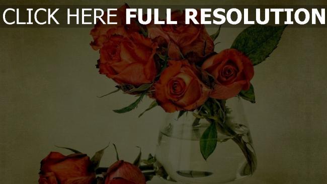 hd hintergrundbilder rosen strauß vase schön vintage-stil