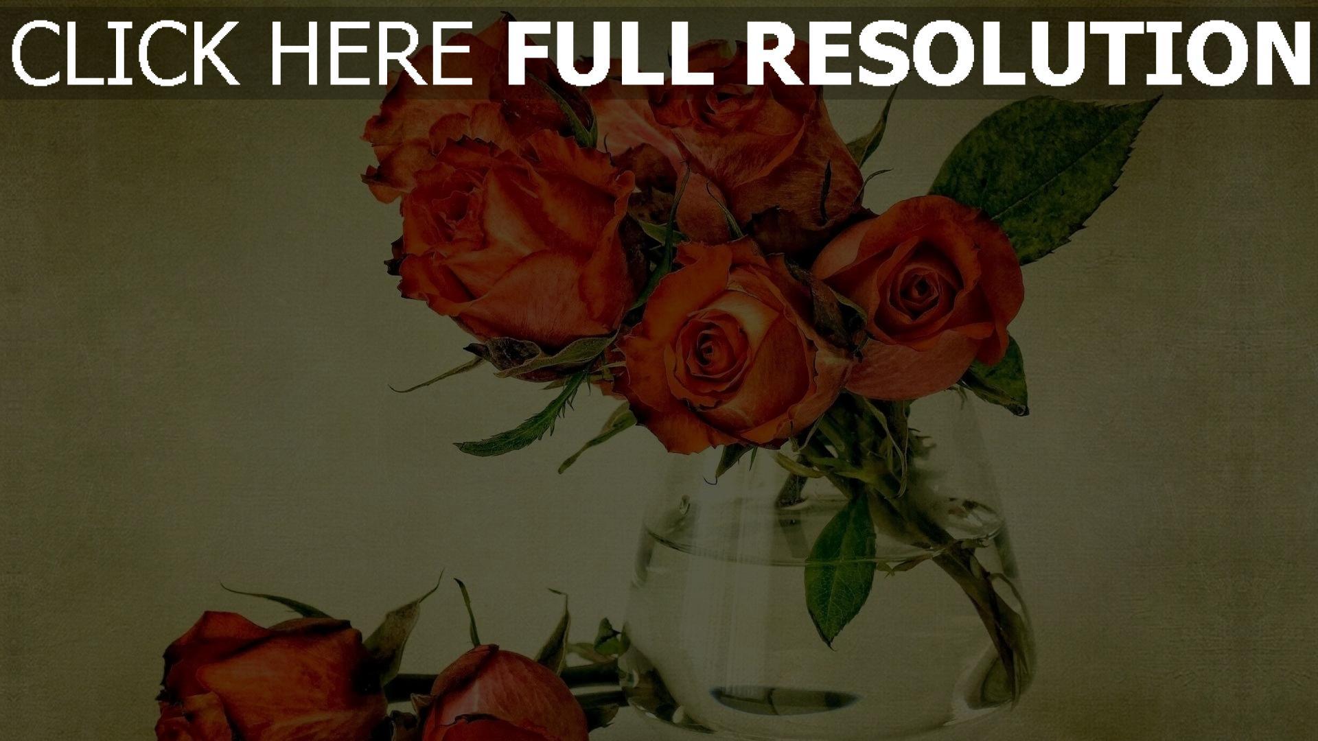 herunterladen 1920x1080 full hd hintergrundbilder rosen strau vase sch n vintage stil 1080p. Black Bedroom Furniture Sets. Home Design Ideas