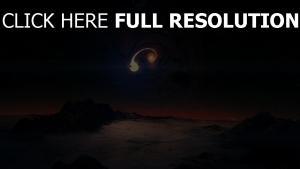 komet planet schutt dunkel
