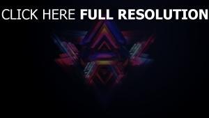 pyramiden abstrakt mehrfarbig dunkel