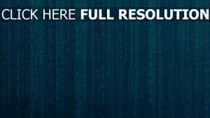 matrix binärcode zahlen blau