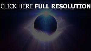ball glühen mystisch dunkel