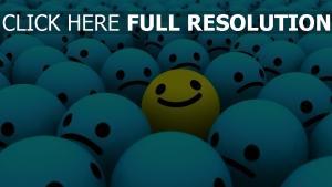 smilies lächeln blau gelb hell