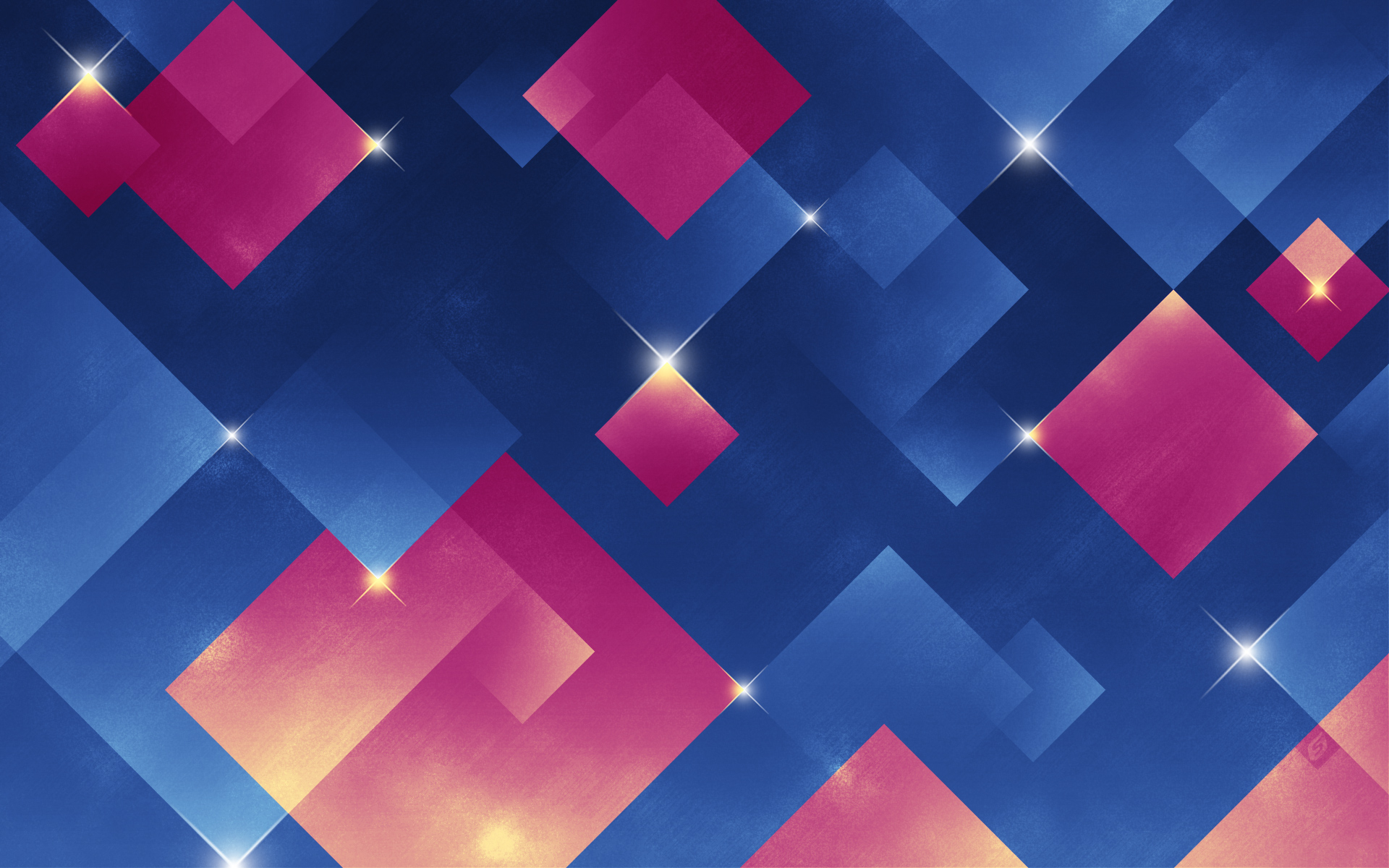 hd hintergrundbilder quadrate funkeln rosa blau 1920x1080