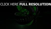 bogen form volumen grün schwarz