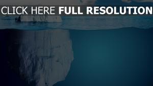 tiefe eis eisberg wasser blau