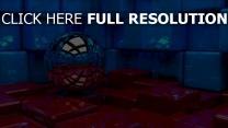 kugel würfeln reflexionen blau rot