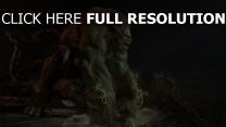monster grün haar aggression ketten