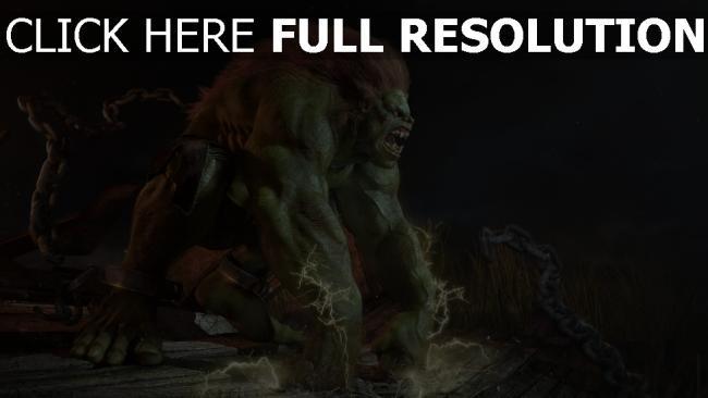 hd hintergrundbilder monster grün haar aggression ketten