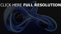 abbildung rendering glas volumen blau