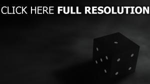 würfel spiel schwarzes punkte dunkel
