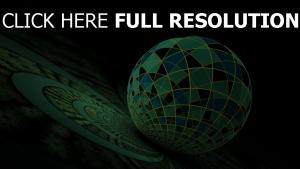 ball muster grün muster kreise