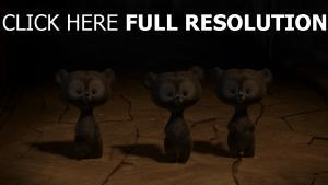 bären cartoon drei braun
