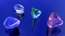 formen glas glanz reflexionen blau