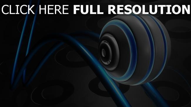hd hintergrundbilder ball form 3d linien blau grau