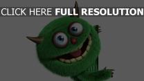 monster grün lustig flaumig licht