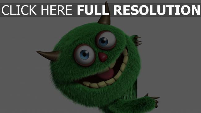 hd hintergrundbilder monster grün lustig flaumig licht
