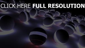 kugeln lichter kreise leuchten grau