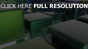 würfeln grün glas spiegelung licht