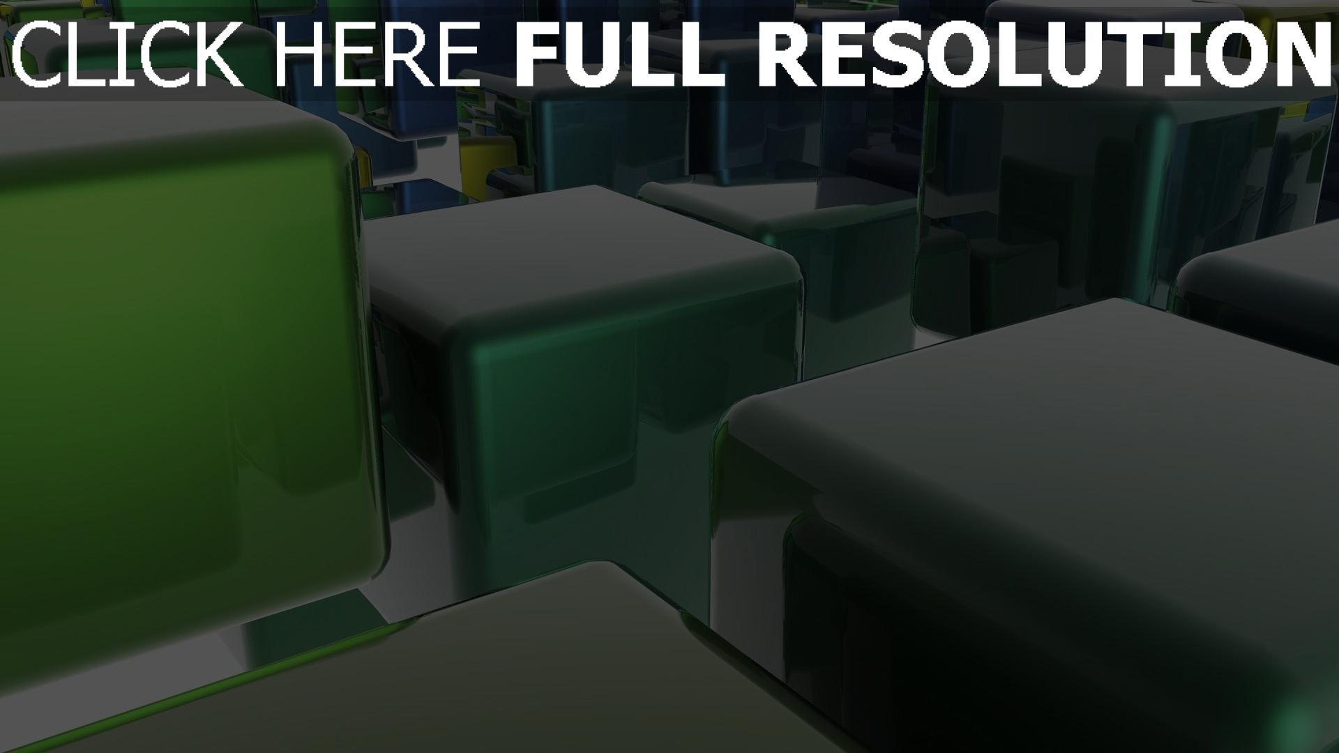 hd hintergrundbilder würfeln grün glas spiegelung licht 1920x1080