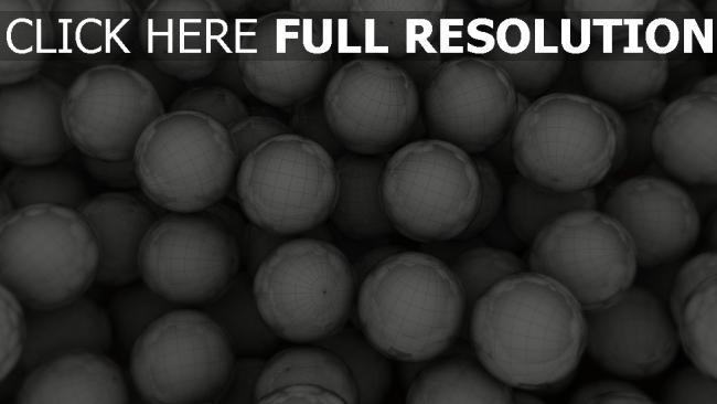 hd hintergrundbilder bälle netze globen grau