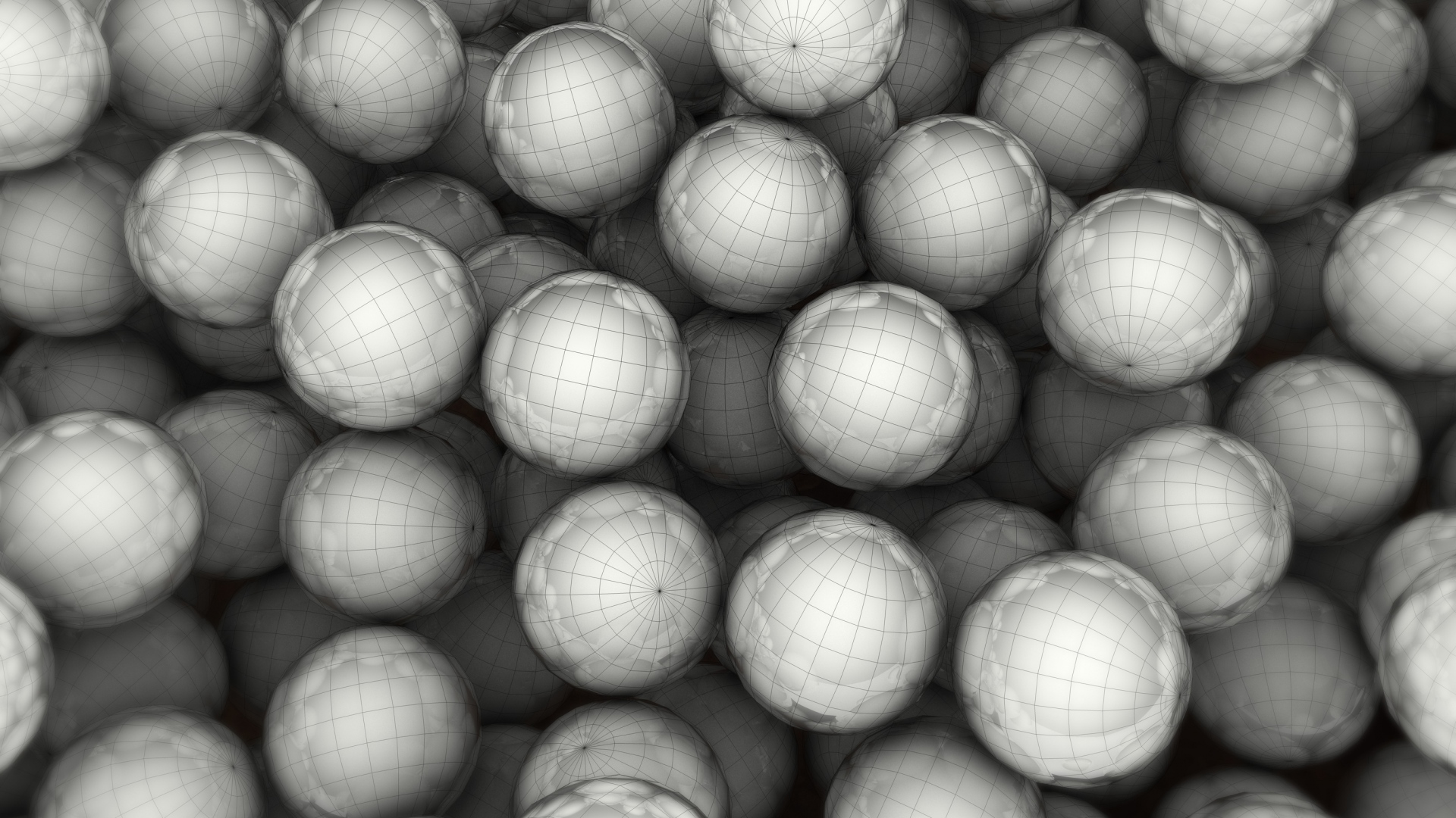 hd hintergrundbilder bälle netze globen grau 1920x1080